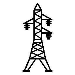 無料のアイコンを 3 つの絶縁体を用いた伝送線路