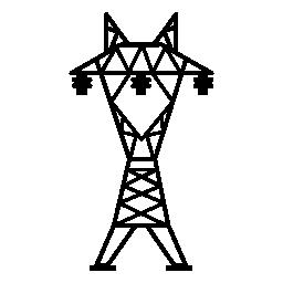 無料のアイコンを 3 つ絶縁体と電力線