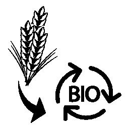 小麦の廃棄物バイオ質量無料のアイコンを
