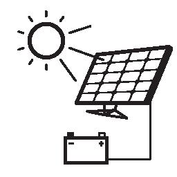 太陽電池パネルで充電バッテリー無料アイコン