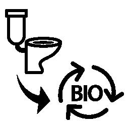 バイオ質量無料アイコンに下水