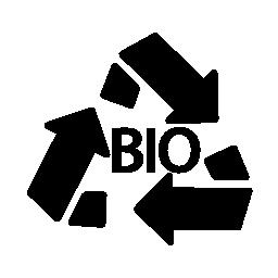 バイオ質量のリサイクル シンボル無料アイコン