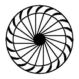 クロスフロー風車の無料アイコン