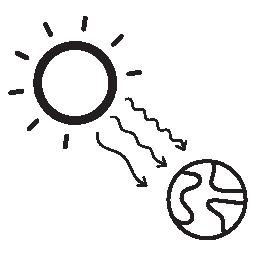 太陽放射線シンボル無料アイコン