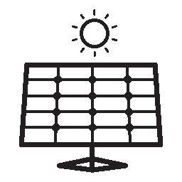 太陽電池パネルの無料アイコンのまっすぐな眺め