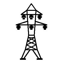 6 絶縁体無料アイコンと電力線