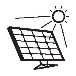 無料アイコンの日光の太陽電池パネル