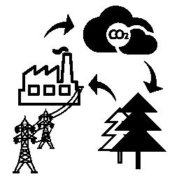 サイクル エネルギー無料アイコンにバイオ質量のスケッチ