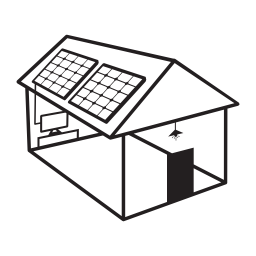 ソーラー屋根無料アイコンにソーラー パネルと家を建てる