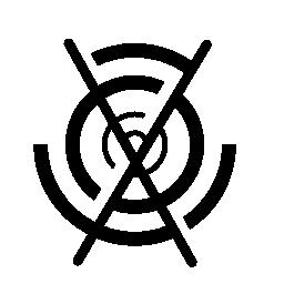 クロス無料アイコンと循環回路