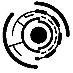 円形プリント回路電子無料アイコン