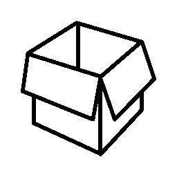包装ボックス開く概要無料アイコン