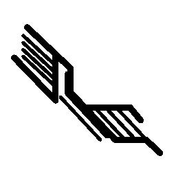 対角線無料アイコンで電子回路
