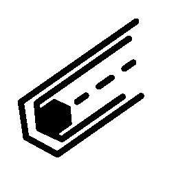 六角形の無料アイコンの電子回路