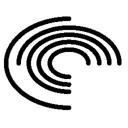 電子描画ボード同心円無料アイコン