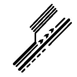 対角線無料アイコンの電子回路詳細