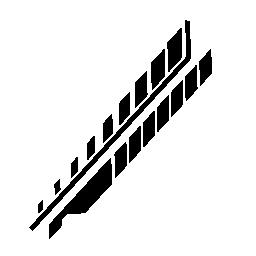 斜めの電子回路のラインとの rhombs 証明される無料のアイコン