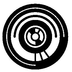 デザイン無料のアイコンを円形の電子回路