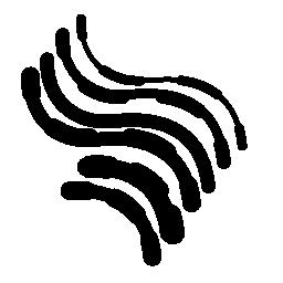 電子回路の不規則な曲線の無料のアイコン