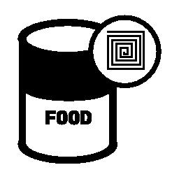 缶詰の RFID ラベル無料アイコン
