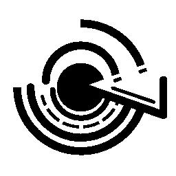 円形の回路印刷無料アイコン