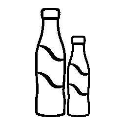 コーラのボトルいくつかの異なるサイズの無料アイコン