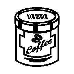 コーヒー錫無料アイコン