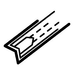 電子回路は対角線が 2 本無料のアイコンの詳細を印刷します。