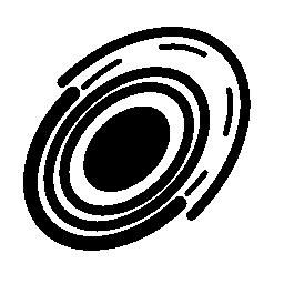 楕円形回路無料アイコン