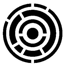 無料のアイコンを円形の行の電子回路