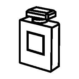 香水ボトルの輪郭の無料アイコン