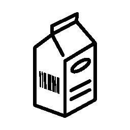 新鮮な牛乳ボックス無料アイコン