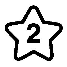 星に番号の 2 つの無料のアイコン