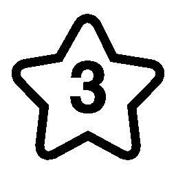 スター番号 3 無料アイコン