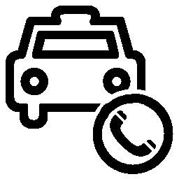 コール タクシー シンボル無料アイコン