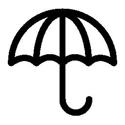 概要無料のアイコンを開いた傘