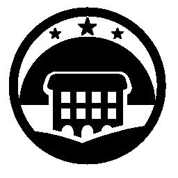 農村部のホテルのロゴの無料アイコン