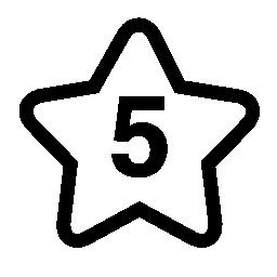 5 ツ星番無料アイコン