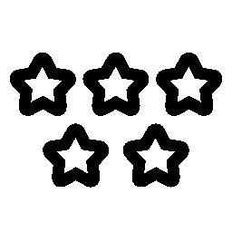 5 つ星の品質のシンボル無料アイコン