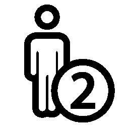 二人シンボル無料アイコン