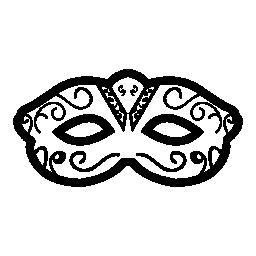 功妙なカーニバル マスクの目をカバーする無料のアイコン
