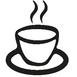 一杯の熱いコーヒー無料アイコン