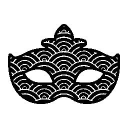 カーニバル マスク テクスチャ形状の無料アイコン