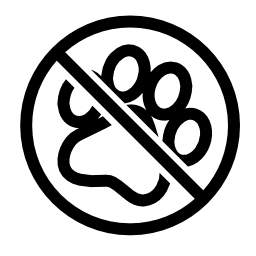 ペットないシンボル無料アイコン