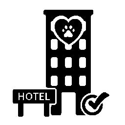 ペット付きホテル棟検証符号無料アイコン