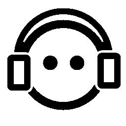 ヘッドフォンの無料アイコンを持つ少年