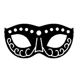 ドットと渦巻き装飾無料アイコンが付いたカーニバル マスク