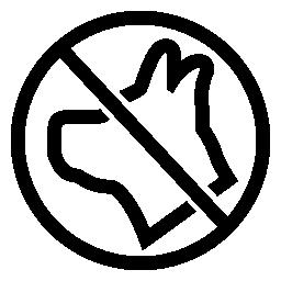 いいえ動物シンボル無料アイコン
