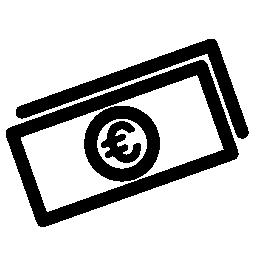 ユーロの法案無料アイコン