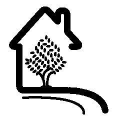 ツリー無料アイコンと農村ホテル ハウス